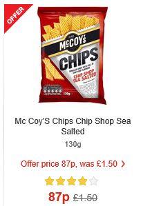 McCoy's Chips (Chip Shop) 130g 87p - MORRISONS
