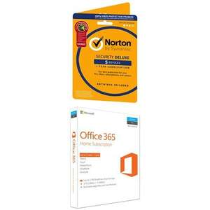 Microsoft Office 365 Home + Norton Security Deluxe 5 Devices £59.99 @ Amazon