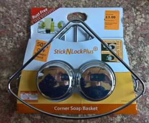 Croydex StickNLock Plus Corner Soap Basket £1.50 instore at The Range Southend