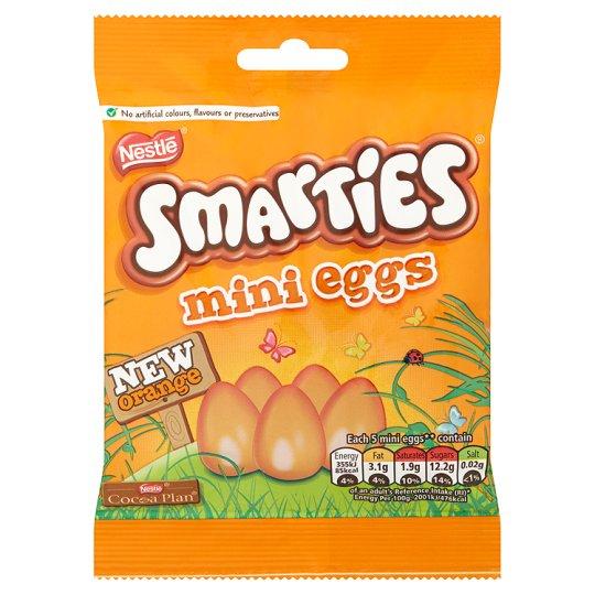 Smarties Orange/Normal Mini Eggs - 2 bags for £1.50 @ Tesco