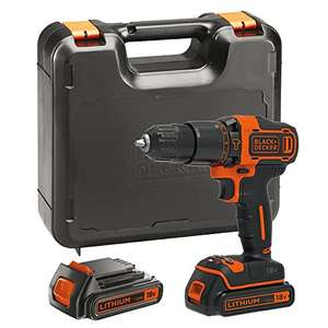 BLACK+DECKER 18V Li-Ion Hammer Drill with Box and 2 Batteries £55.21 @ Amazon