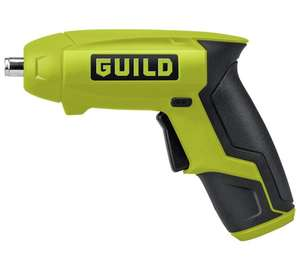 Guild Li-ion cordless screwdriver for just £9.99 (was £17.99 - 45% off!) at Argos. 2 year warranty.
