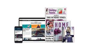 Sunday Times print edition - 1 year subscription half price £65 (£1.25 a week) including Times+ offers (e.g. 2 for 1 Odeon tickets)