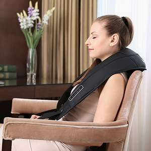 Naipo Neck and Back Percussion Massager with 5 Modes / 8 Speeds £27.99 delivered w/code sold by Naipo Care / Fulfilled by Amazon