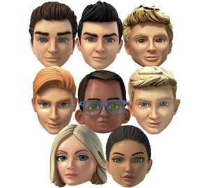 Star Cutouts Thunderbirds Are Go Pack of 8 Masks £11.99 Argos