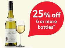 25% off when you buy 6 bottles of Wine or Champagne @ Tesco