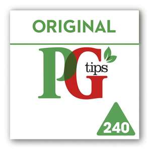 PG tips Pyramid Tea Bags (240) £3.50 @ Morrison's