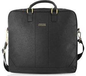 """New - GUESS 15"""" Leather Laptop Case Black £23.91 @ Currys-PCWorld - Ebay Free delivery"""