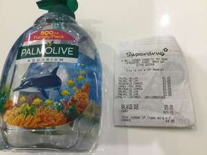 Palmolive 500ml family pack hand wash - £1.25 instore @ Superdrug