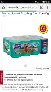 Butchers lean & tasty £5.50 dog food for 12 tins @ wilko