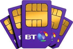 B.T Mobile - £7.50 a month 12 months 500mb data unlimited texts and mins £90 plus other deals see op