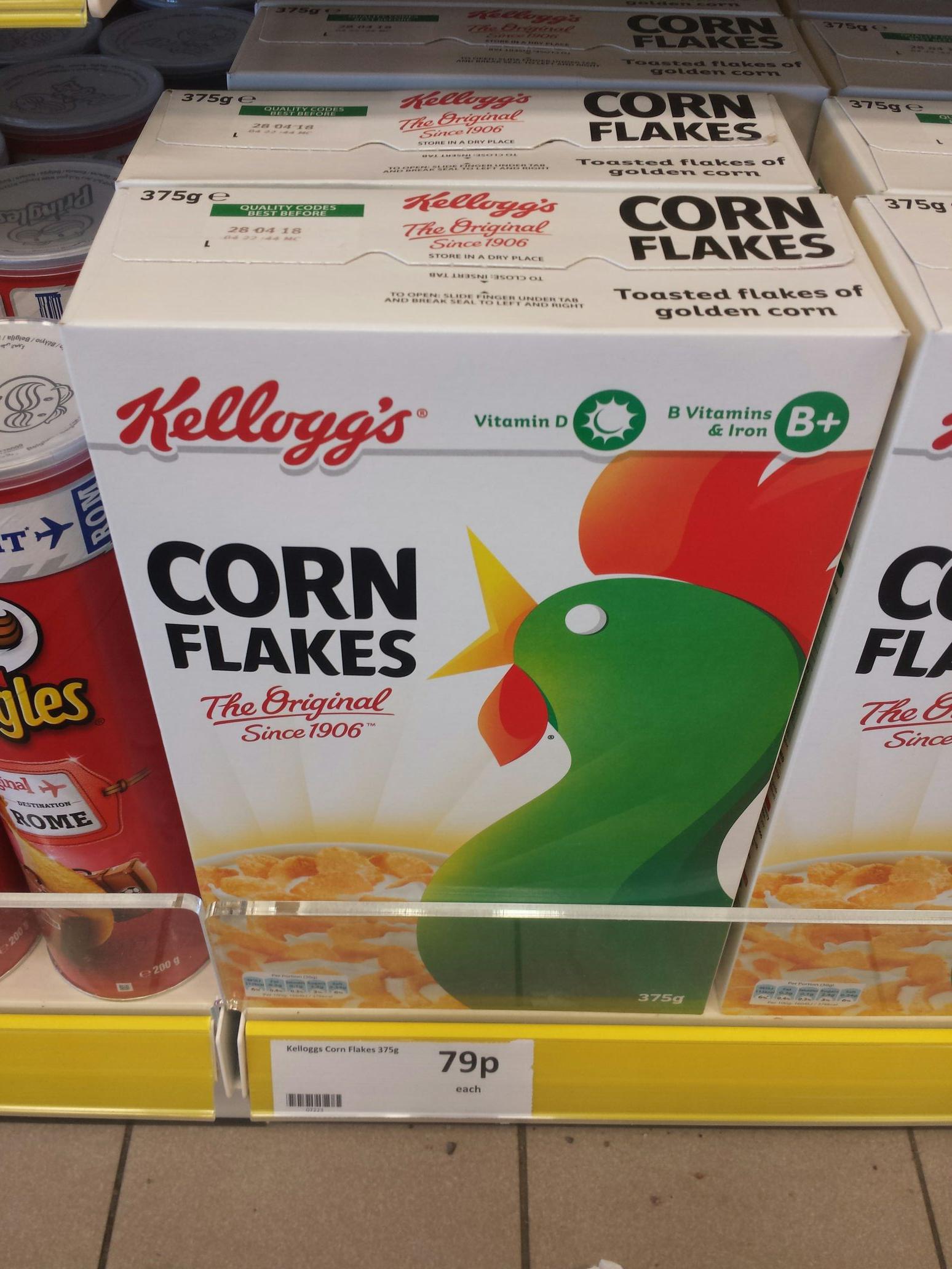 Kellogg's Cornflakes 375g for 79p at Heron Foods.