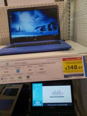 "HP 14-bp066sa  laptop 14"" £148.97 @ Currys - instore"