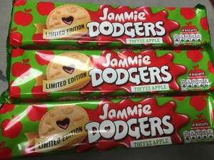 X3 packs of toffee apple jammie dodgers (total 24 biscuits) £1 at poundland
