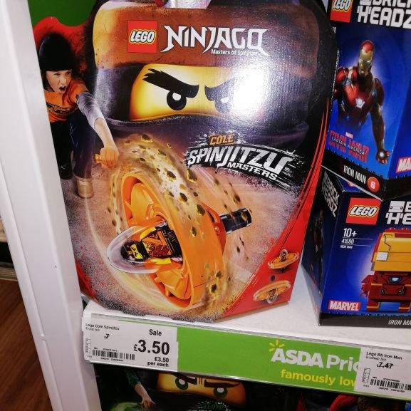 Lego Ninjago Cole Spinjitzu Masters £3.50 instore @ Asda (Sheerwater)
