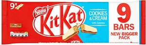 Kit Kat 2 Finger Biscuit Bar 9pk various flavours Half price  £1.00 @ Sainsburys