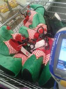 Kids Elf slippers 4p instore at Tesco Barnsley
