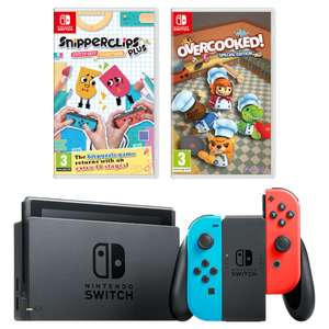 Nintendo Switch Console Neon/Grey + Snipperclips Plus + Overcooked + 2 Year warranty £309 @ Nintendo UK Store