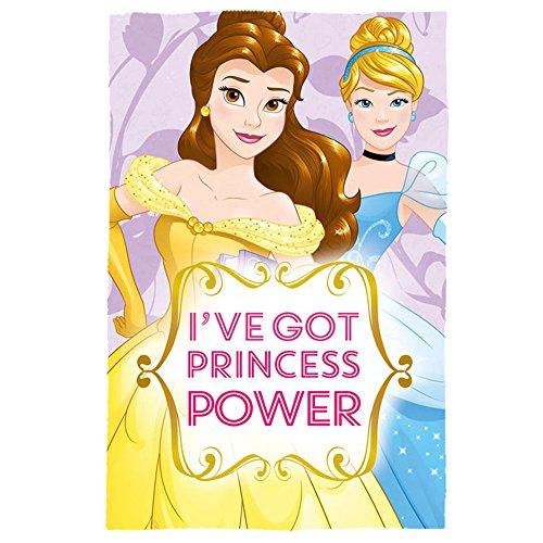Disney WD19168 Princess - Belle and Cinderella 150cm x 100cm Polar Fleece Blanket amazon add on item minimum 20 pound spend applies £3.72