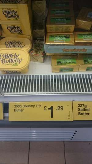 Country Life Salted Butter 250g £1.29 @ Farmfoods