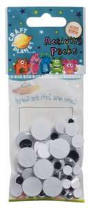 Googly Wiggly Eyes (Pack of 40) 33p (was £1.69) @ W H Smith's - Free C+C