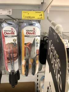 Kitchen Devils the most comfortable knives twin set was £8 now half price £4 at Asda