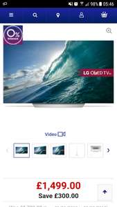 "LG OLED55C7V 55"" Smart 4K Ultra HD HDR OLED TV £1499 + 5 year Guarantee + 18 months 0% finance @ Currys"