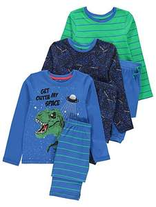 Pack of 3 childrens dinosaur pyjamas age 11-12, £10 C+C @ Asda George