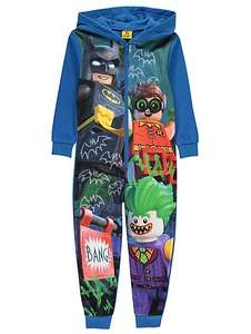 DC Comics LEGO hooded onesie 7-8yrs \ Peppa pig hooded onesie 3-4 yrs £6 @ Asda