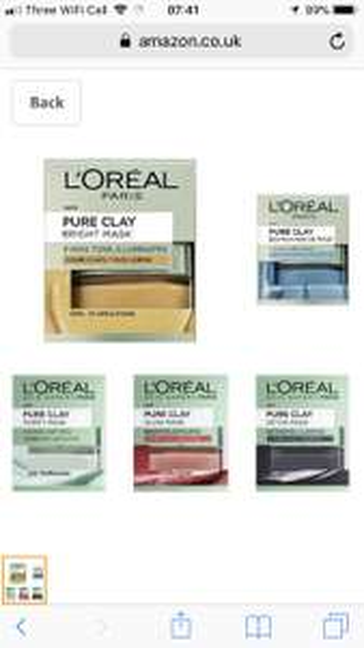 L'Oreal Paris all 5 clay masks £19.99  (Prime) / £24.74 (non Prime) at Amazon