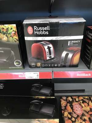 Russell Hobbs Legacy Red Toaster £5 at Asda instore Milton Keynes