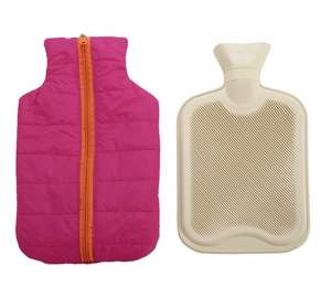 1\2 price Hot water bottle & protective zipped padded cover now £4.99 @ Argos