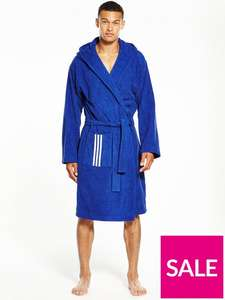 Adidas 100% cotton bathrobe dressing gown £27.20 Blue or £28.60 Red @ very (free click + collect from local shop + quidco)