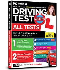 Driving Test Success All Tests PC £4.50 prime / £6.49 non prime @ amazon