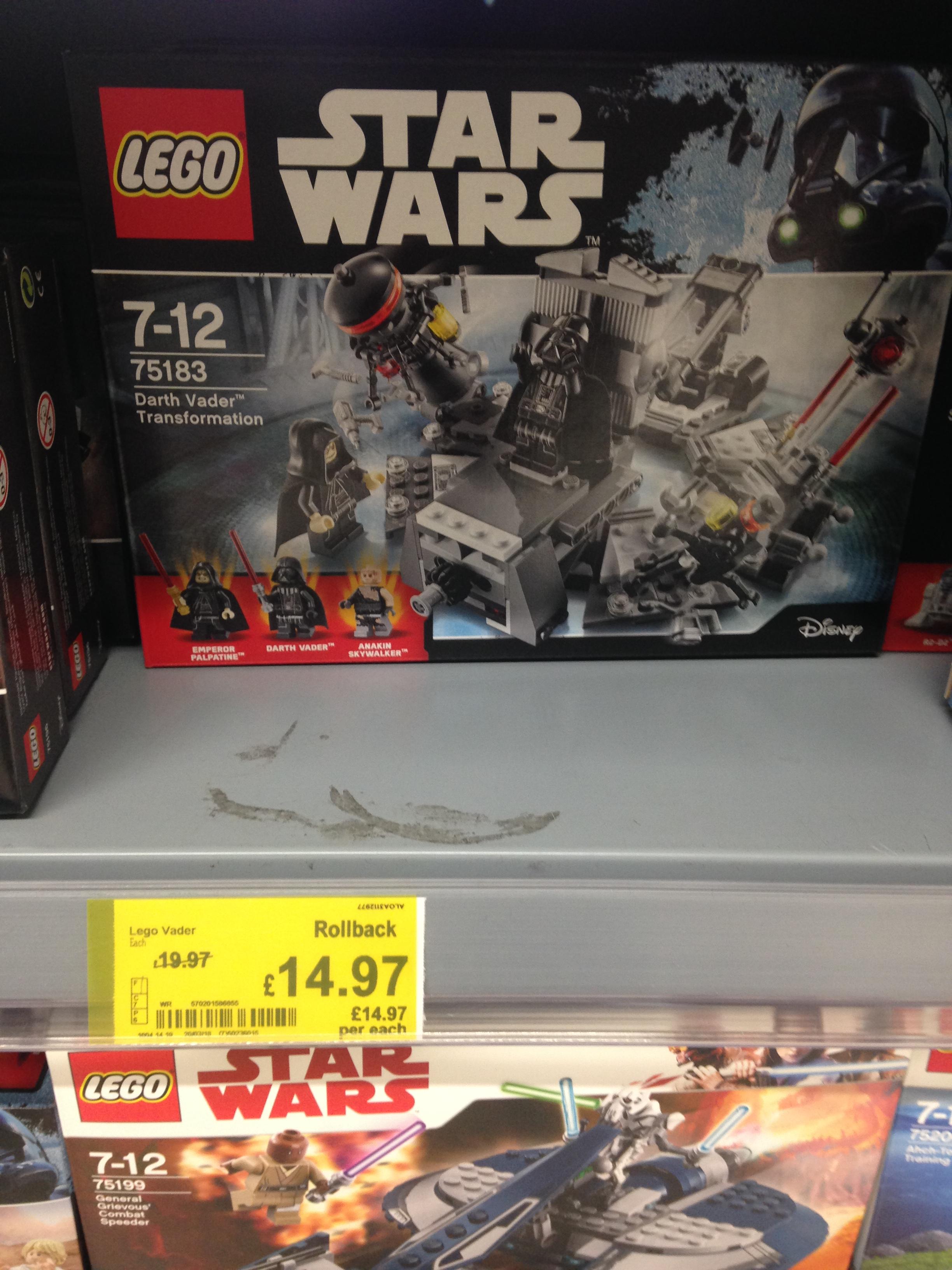 Lego 75183 darth Vader transformation £14.97 instore Asda