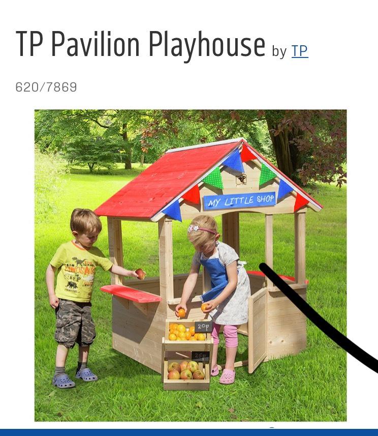 Tp pavilion outdoor kids playhouse £90.94 @ Argos