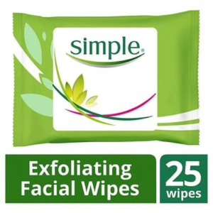 Simple Kind To Skin Exfoliating Facial Wipes 25s £1.69 Superdrug