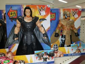 The undertaker and rey mysterio £5 at Wilko's instore