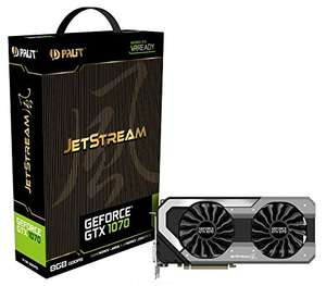 Palit GeForce NVIDIA GTX 1070 JetStream Series 8 GB GDDR5 Pci Express 3.0 Graphics Card - Black  £473.60 Dispatched and sold by CCL Computers - Amazon