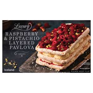 Iceland Raspberry and Pistachio Layered  Pavlova 574g was £6 now £5