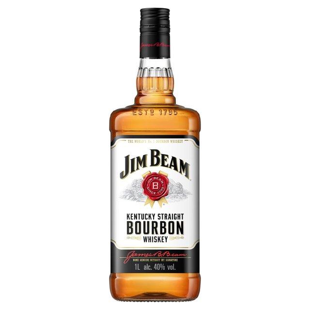 Jim Beam Kentucky Straight Bourbon 1L  £16.00 Morrisons and Asda