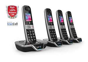 BT 8600 Advanced Call Blocker Cordless Home Phone with Answer Machine (Quad Handset Pack) - £74.96 Amazon