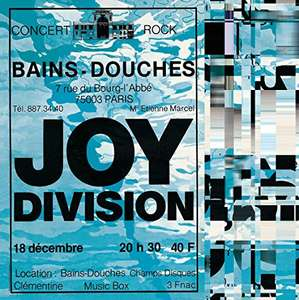 Joy Division - Live at Les Bains Douches vinyl LP [ AMAZON SPAIN ] £9.91 delivered