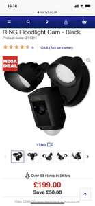 Ring floodlight £199 @ Currys