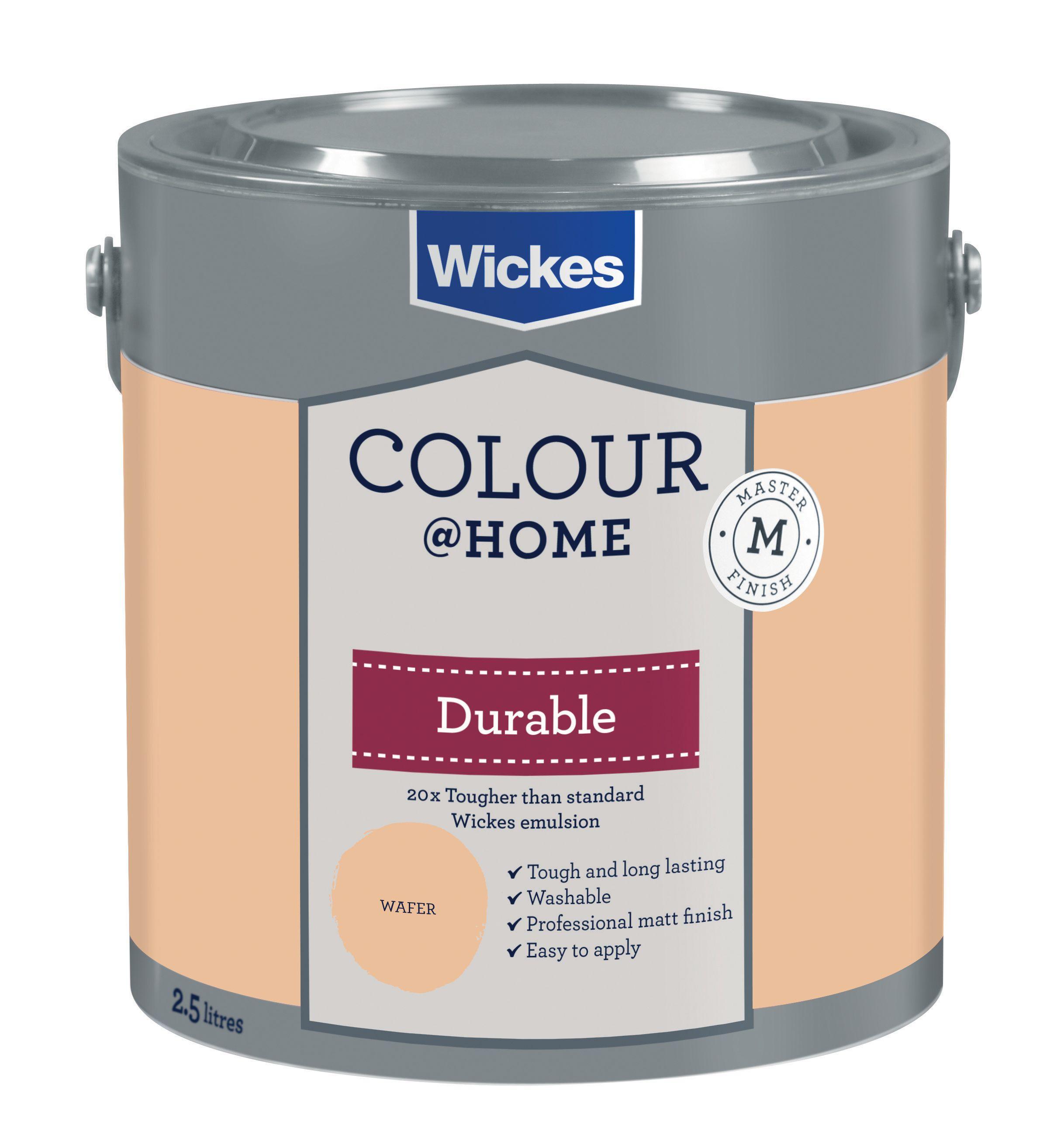 Home Durable Matt Emulsion Paint - Wafer 2.5L for £1 @ Wickes