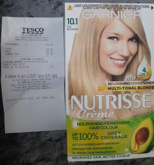Garnier Nutrisse 10.1 Ice blonde £2.32 @ Tesco instore West Durrington