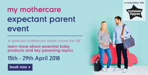 Free Bookable Expectant Parent Event at Mothercare (FREE goody bags for all mums-to-be)