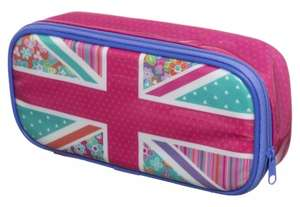 Festival Pink Floral Union Jack  Filled Pencil Case £3.49 (was £8.99) @ WHSmith - Free C+C