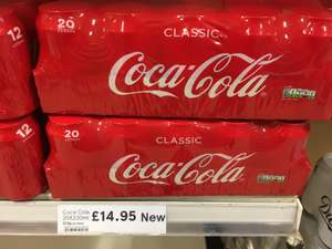 New Coca-Cola 20pk launches for sugar tax increase in Tesco - £14.95