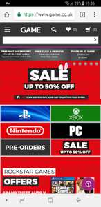 Game up to 50% off